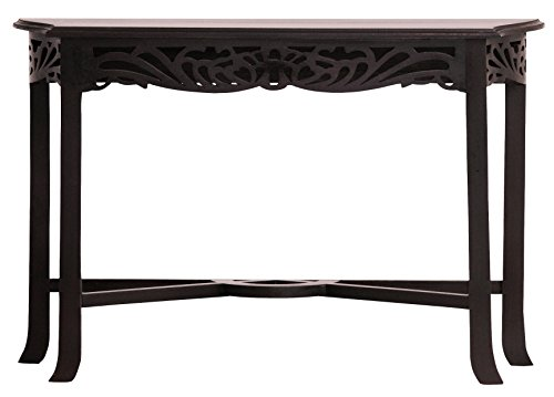 NES Furniture aba10427 Bordeaux End Table Fine Handcrafted Solid Mahogany Wood 47 inches Chocolate