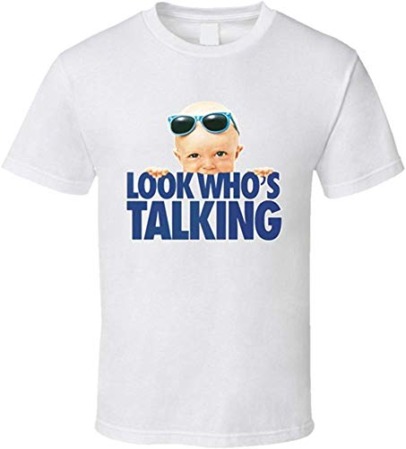 NicholasAnthonye Look Who's Talking Men's Short Sleeve Cotton T-Shirt Classic Tee Medium