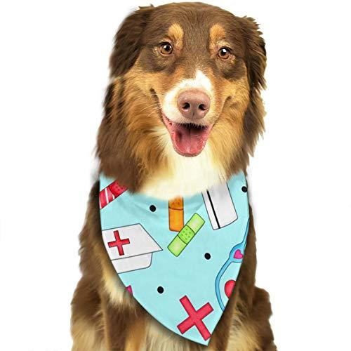 FortniteCOM Dog Bandana Funny Nurse Pattern Triangle Bibs