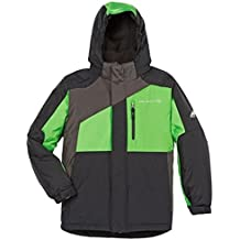 Boys Free Country extreme performance jacket, Gray/Green, S-7/8
