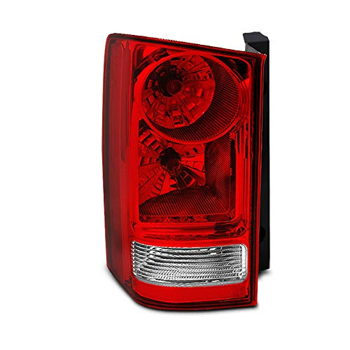 (For Honda Pilot Red Clear Rear Tail Light Brake Tail Lamp Driver Left Side Replacement Assembly)