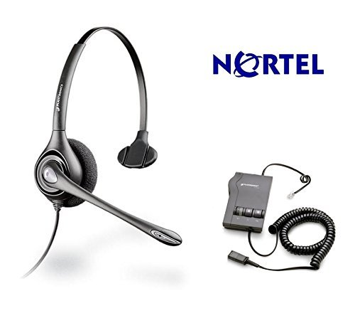 Nortel Meridian Compatible Plantronics HW251N Direct Connect Headset Bundle Voip - Nortel M2112 M2317 M2616 M2008 M3901 M3902 M5006 M5008 M5009 M5112 M5312 M6310 M6320 M7100 by Plantronics