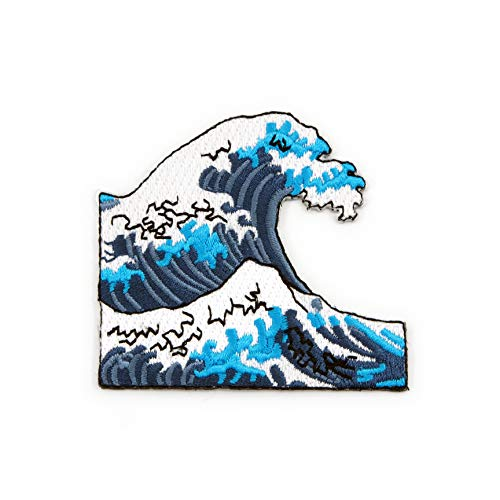 Winks For Days Great Ocean Wave Embroidered Iron-On Patch