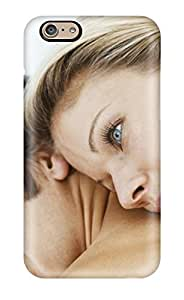 Case Cover Girl Thinking Something While Sleeping Over Guy Back/ Fashionable Case For Iphone 6(3D PC Soft Case)