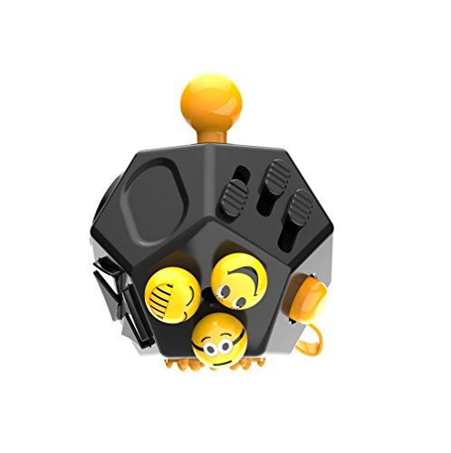 Fidget Cube II Gift Toy Anxiety Stress Relief For Adults Gift Toys (Black)