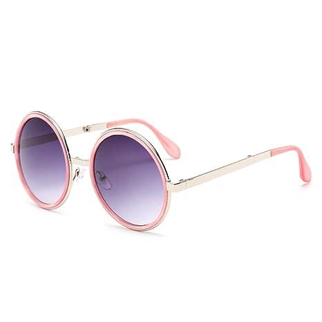 Shuzhen,Gafas de Sol universales para Hombres y Mujeres. Modernas y Circulares. Lentes polarizadas. Gafas de Moda.(Color:Rosado)