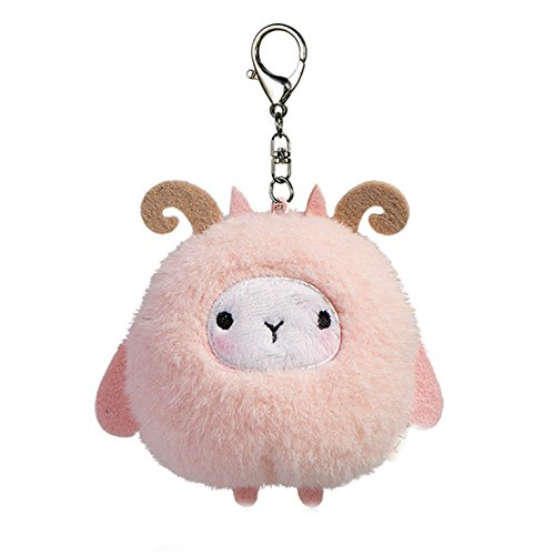 Smilesky Plush Keychain Sheep Stuffed Animal Ornaments Pendant Decor Pink 4