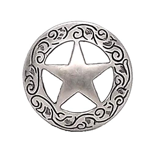 OutletBestSelling Texas Star Engraved Screw Back Concho 3/4