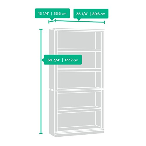 Amazon.com: Sauder 5-Shelf Bookcase, Oiled Oak Finish: Kitchen ...