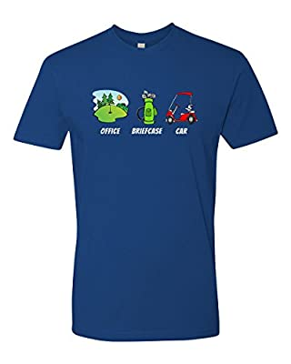 Panoware Men's Retirement, Office, Briefcase, Car, Golf Funny T-Shirt