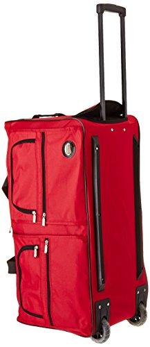Rockland Luggage 30 Inch Rolling DuffleBag, Red, Medium