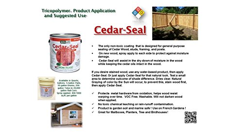 Stain Exterior Wood (TriCoPolymer VOC Free Non Toxic, Clear Satin Cedar)