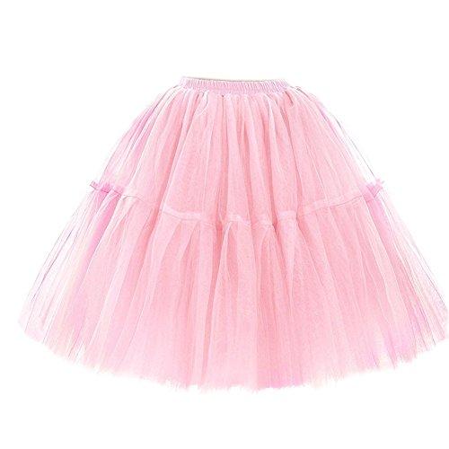 Di Principessa Balletto Scfl Organza Mini Gonna Partito Donne Tutu Adulti Il Pizzo Per Rosa Stratificati Delle Prom Petticoat PzAnPRB