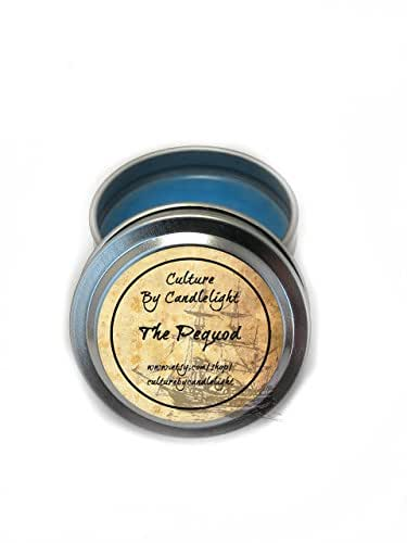 The Pequod 2 oz. Travel Tin Candle - Inspired by Moby Dick by Herman Melville - Ocean Scented
