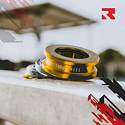 ROOT INDUSTRIES AIR Tall Stack Headset - Trick/Stunt Scooter Headset - 1-⅛ Freestyle BMX/Scooter Professional Integrated Headset - Premium Color Options Sealed Fast (Gold): Sports & Outdoors