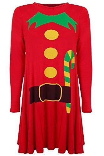 SAPHIR BOUTIQUE Damen Weihnachten Swing Skater Elfanzug Lebkuchen ...