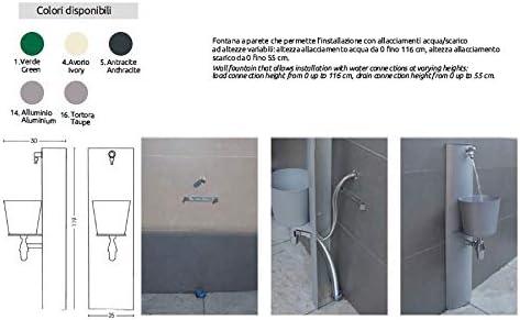 BEL FER Fontanella Ferro 42//PRT Fontana a Parete con attacchi variabili Vari Colori Antracite