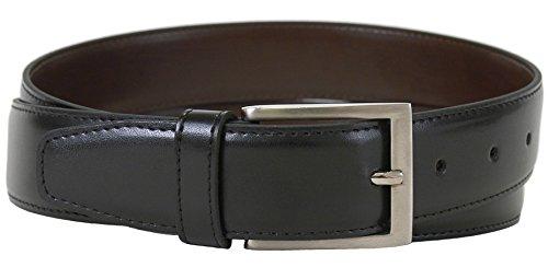 Collection Leather Belt (The Vegan Collection Men's Captain Black Non Leather Belt (36