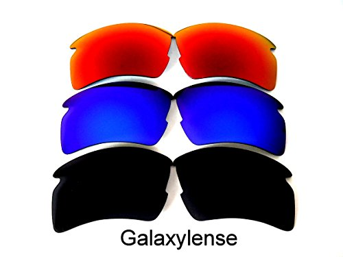 Galaxy Replacement Lenses For Oakley Flak 2.0 XL Polarized Black&Blue&Red 3 - Xl Flak 2.0