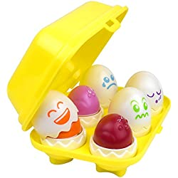 Hide N' Tweet Eggs; Chirping Squeaky Eggs; Educational Toys, Learning Toys, Preschool Toys For Toddlers