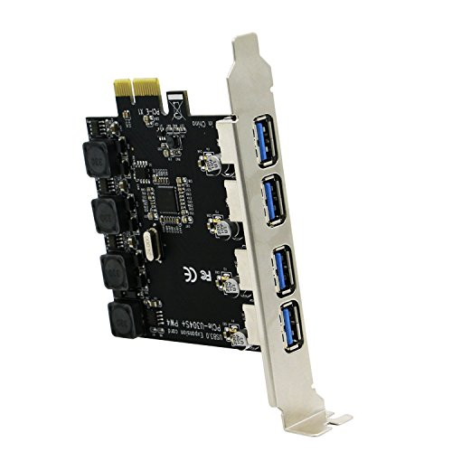 Feb Smart 4 Ports USB 3.0 Super Fast 5Gbps PCI Express(PCIe) Expansion Card for Windows XP,7,Vista,8,8.1,10 Desktop Computer-Build in Self-Powered Technology-No Need Additional Power (Ieee 1394 Expansion Board)