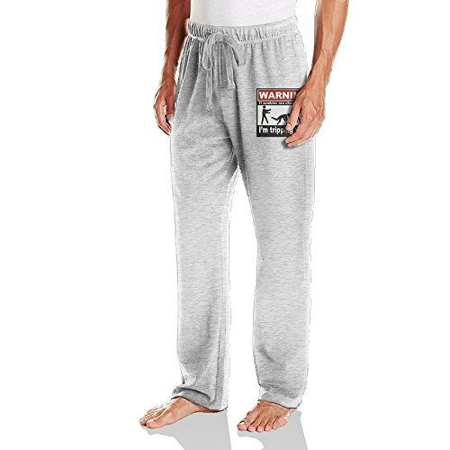 Ano Men's Running Pants If Zombies Chase Us I'm Tripping You Ash Size XXL ()
