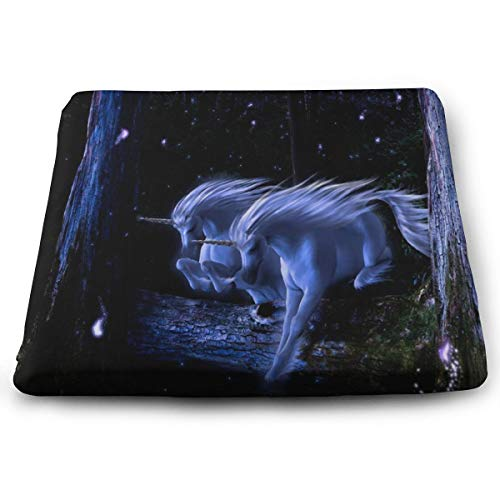 - Ladninag Seat Cushion Purple Unicorns Chair Cushion Vintage Offices Butt Chair Pads for Wheelchairs
