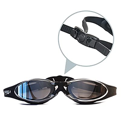 Veluxio Premium Adult Swim Goggles with Case by Veluxio