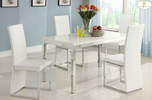 Homelegance Clarice Chrome Dining Table -