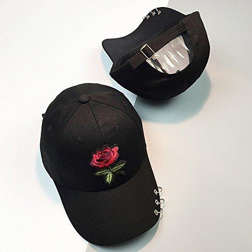 Flores Unisex Hop Sombreros Rosas Hip Ajustable mznwpm Mujeres H Gorras De Hombres xFtwZcYq