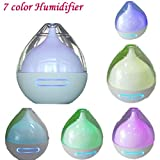XILALU Most Advanced Ultrasonic Humidifier,USB 7 Color LED Lamp Air Purifier Filter Cold Mist Atomizer Aroma Essential Oil Diffuser Aromatherapy - Super-Quiet,ABS Material,Non-Toxic,Odorless