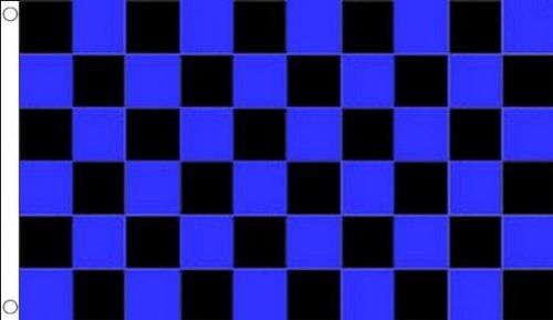 AZ FLAG Blue and Black Check Flag 3' x 5' - Checkered Racing Flags 90 x 150 cm - Banner 3x5 ft]()