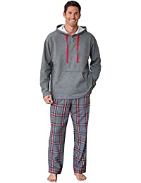 Mens Pajamas for Men Mens Flannel Pajamas Sets, Multicolored