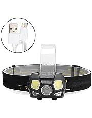 sococoo Headlamp USB Charging LED COB Head Light Flashlight Outdoor Waterproof Headlight for Camping Emergency