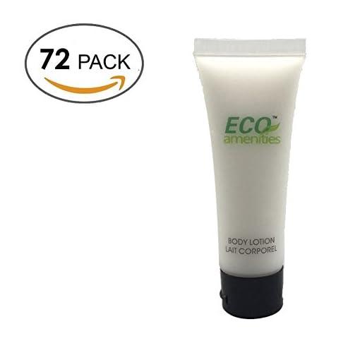 ECO-AMENITIES-Transparente-Tubo-Flip-Cap-Envueltas-Individualmente-30ml-Body-Locion-72-Tubes-per-Caso
