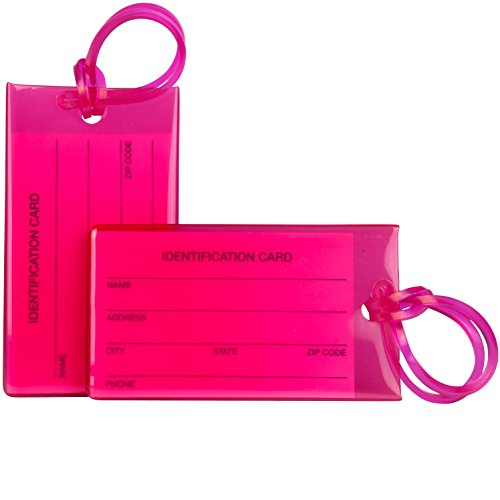 2 Pack TravelMore Luggage Tags For Suitcases, Flexible Silic