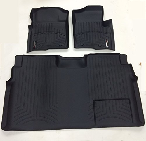 Weathertech 446111-441793 1st & 2nd Row Black Floor Liner for 2009 - 2013 Ford F-150 (Weathertech Floor Mats 2014 F150 compare prices)