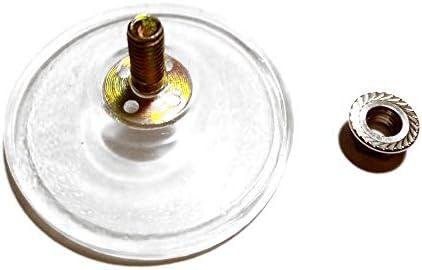 recomendado negro M6 Di/ámetro 5,5 cm Borde grueso Gancho de ventosa de tornillo PVC M6 Con contratuerca,Para una succi/ón mejorada,6 piezas