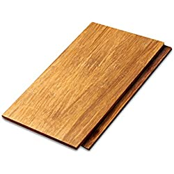 "Cali Bamboo - Solid Wide Click Bamboo Flooring, Mocha Brown, Light Distressed - Sample Size 8"" L x 5 1/8"" W x 9/16"" H"