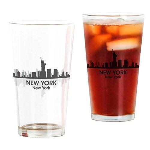 CafePress New York Skyline Pint Glass, 16 oz. Drinking Glass