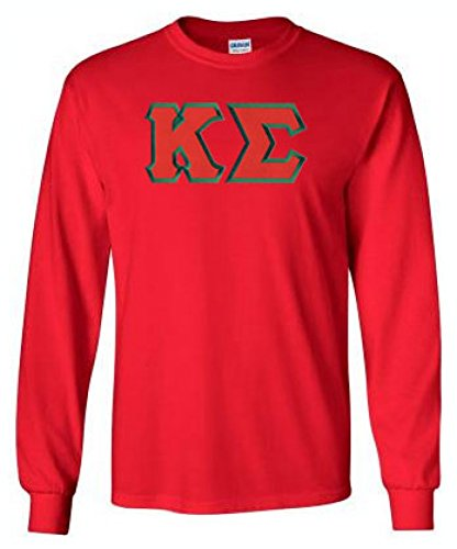 Kappa Sigma Lettered Long Sleeve Medium Red