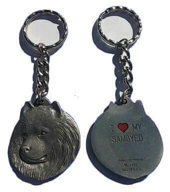 (Samoyed Keychain Pewter)