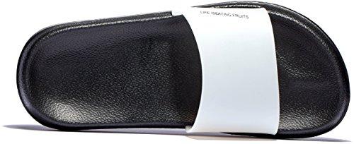 Femmes Et Doux Mayi De Noir Sandales Chaussures amp; Blanc Slip Pantoufles Antidrapantes House Impermable Piscine Douche On HqA7dq