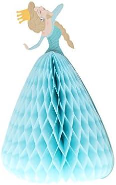 Fenteer バレンタイン/誕生日/鶏党のための3D王女のおとぎ話のグリーティングカードの招待 - 水色
