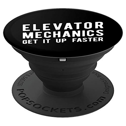 - Elevator Mechanic, Get Up Faster Technician - PopSockets Grip and Stand for Phones and Tablets
