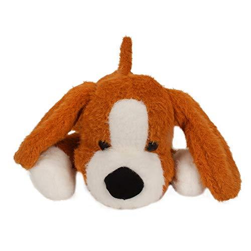 Fuzzbuzz Soft Lying Dog   Black   33cm