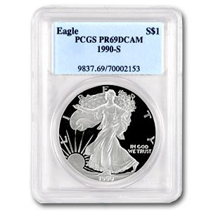 1990-S (PROOF) Silver American Eagle - PR-69 DCAM PCGS