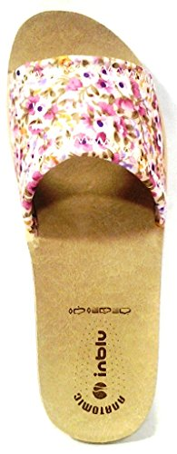 INBLU ciabatte pantofole aperte donna mod. DI-48 sabbia LINEA BENESSERE