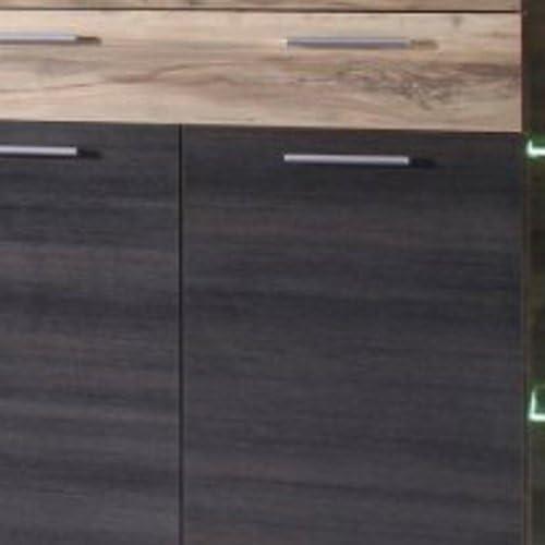 Maisonnerie 1111-863-59 Boom Commode Armoire Buffet Meuble Noyer Satin D/écor Touchwood D/écor LxHxP 160 x 137 x 40 cm
