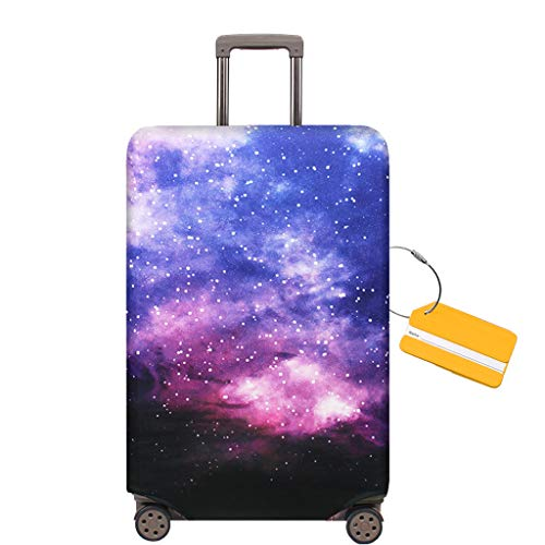 0b2ac18bd78a OrgaWise Luggage Cover Travel Suitcase Trolley Case Protective Cover for  22-28 inch Luggage+ Luggage Tag(M)
